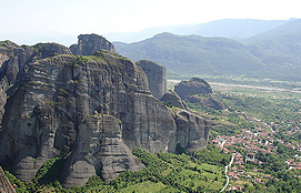 Meteora And The Kalambaka City