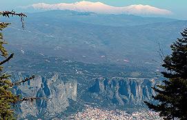 Meteora And Olympos Mountain