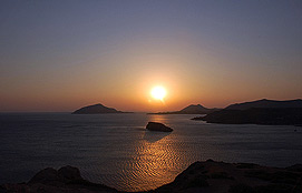 Sounion Sunset View From The Temple